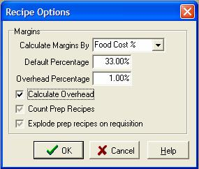 Overhead the overhead feature is toggled on or off at recipe setup options if you want to set a global percentage for all recipes move your cursor to overhead forumfinder Gallery